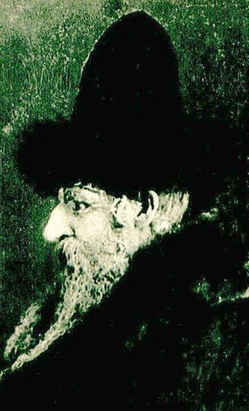 Portrait of Rabbi David Moses Friedman of Chortkov wearing the unique shtreimel of the Ruzhin dynasty (courtesy of Wikipedia)