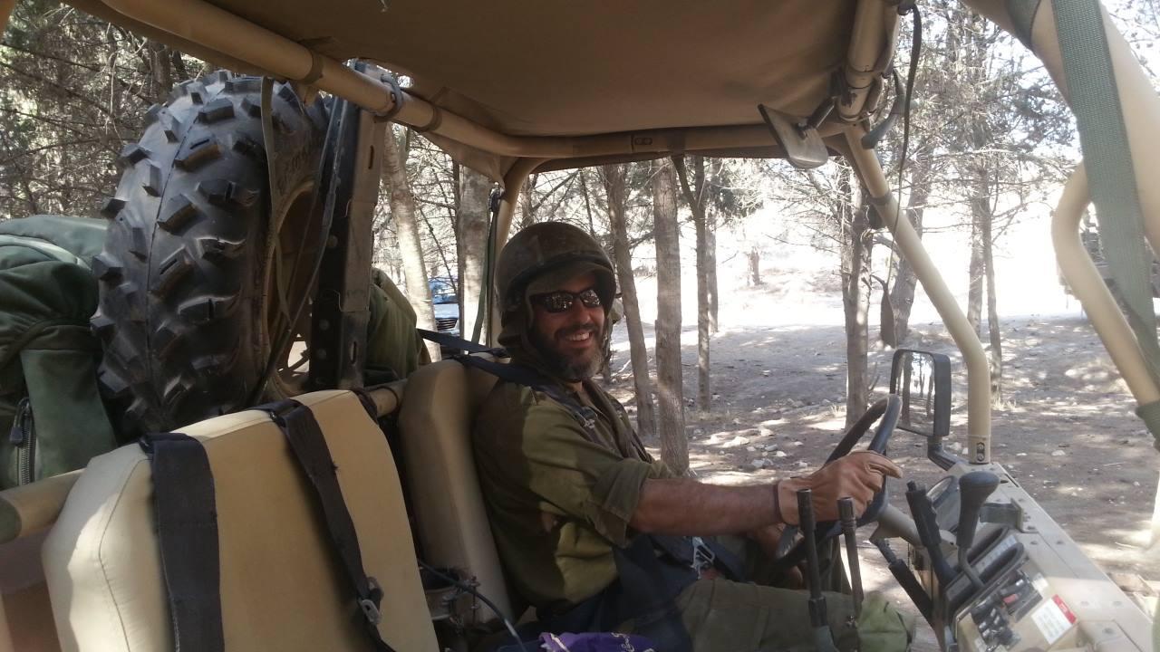 Yishai Fleisher doing Miluim, Israeli Army reserve duty.
