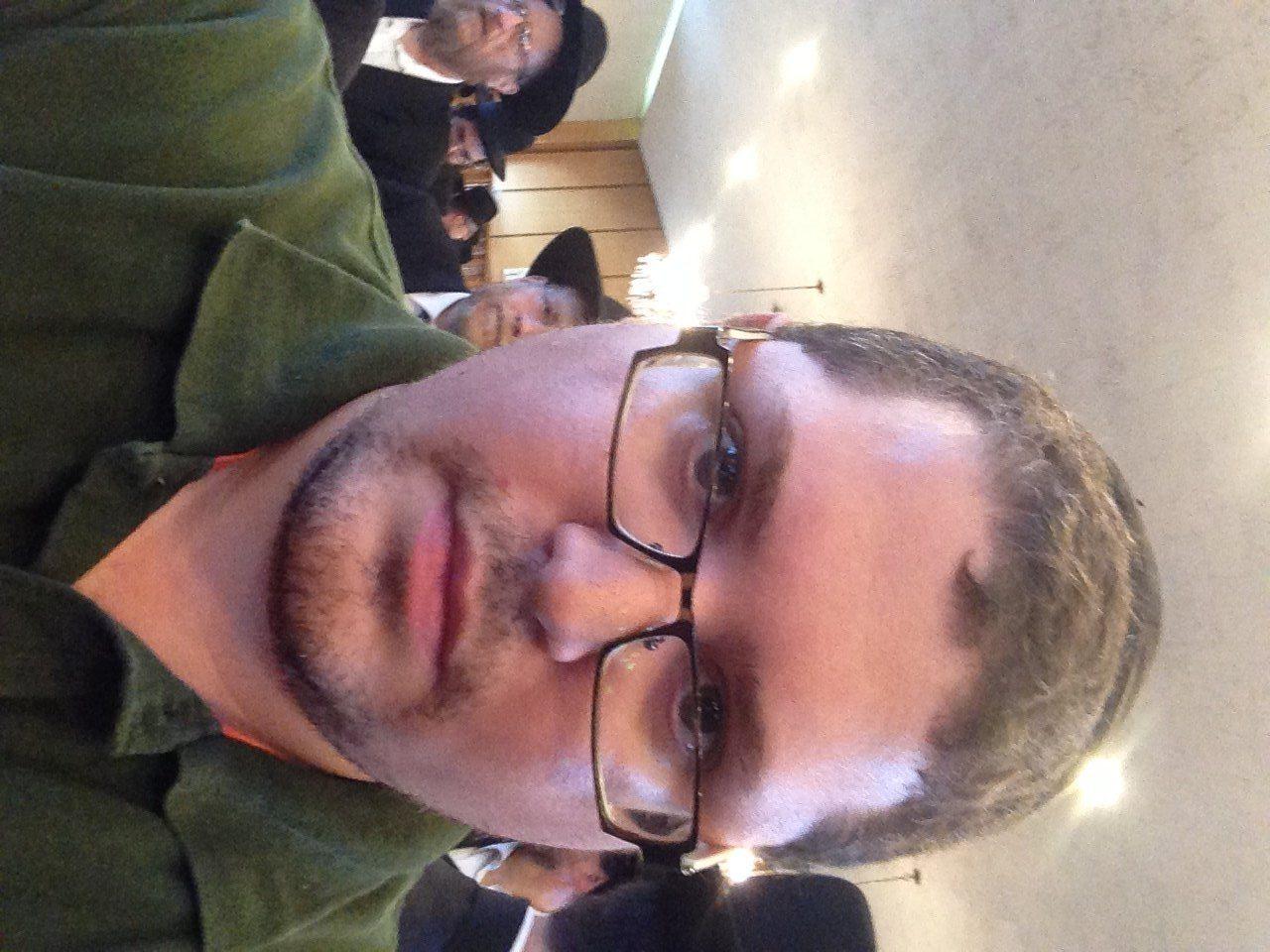 Selfie shot with three-weeks facial hair.