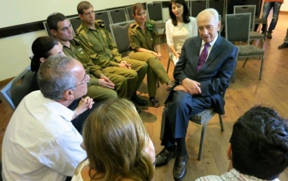 """""""Thank you for bringing up such a child,"""" Israeli President Shimon Peres told the Steinbergs at their mourning shiva."""