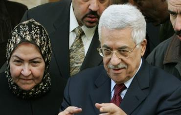 Mahmoud Abbas and his wife Amina Photo: REUTERS