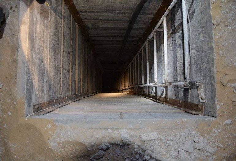 Tunnel opening discovered by IDF in Gaza, July 20, 2014 (photo credit: IDF)