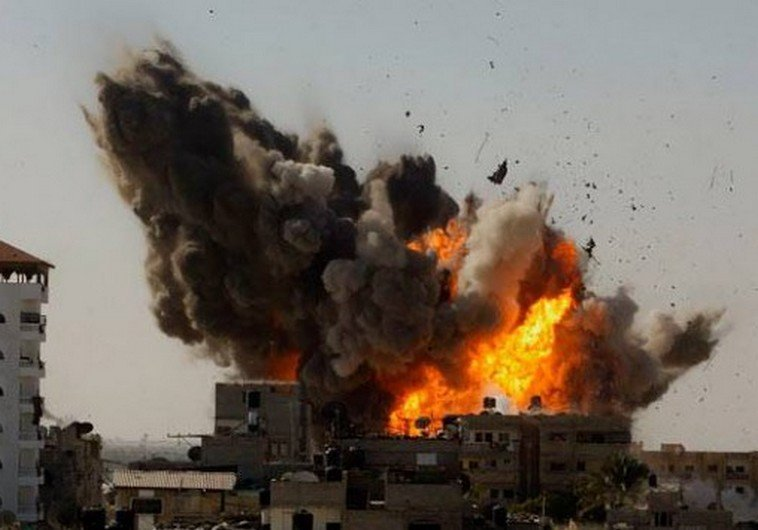 IAF strikes Gaza Photo: PALESTINIAN MEDIA