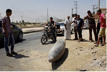 Unexploded IDF missile in Gaza (file) - Flash 90