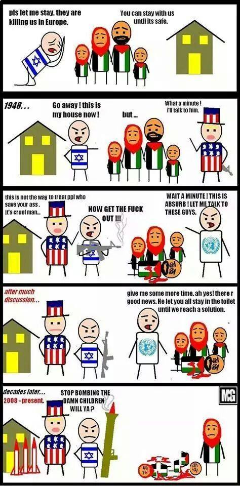 """No wonder """"Palestinians"""" hate us. This is so one-sided it's not even funny."""
