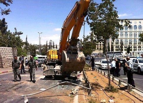 Scene of terror attack in Jerusalem