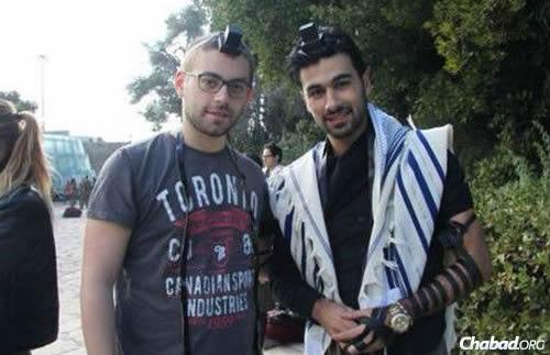 Yoav Hattab, right, with a friend.