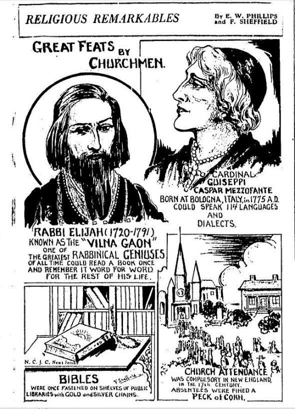 Vilna Gaon - in Ripley's Believe It Or Not
